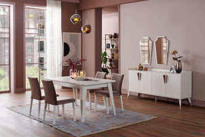 Silver Dining Room Set - Ider Furniture