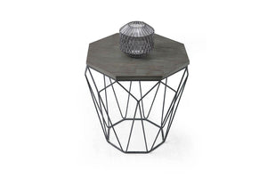 Sosa Side Table Anthracite - Ider Furniture