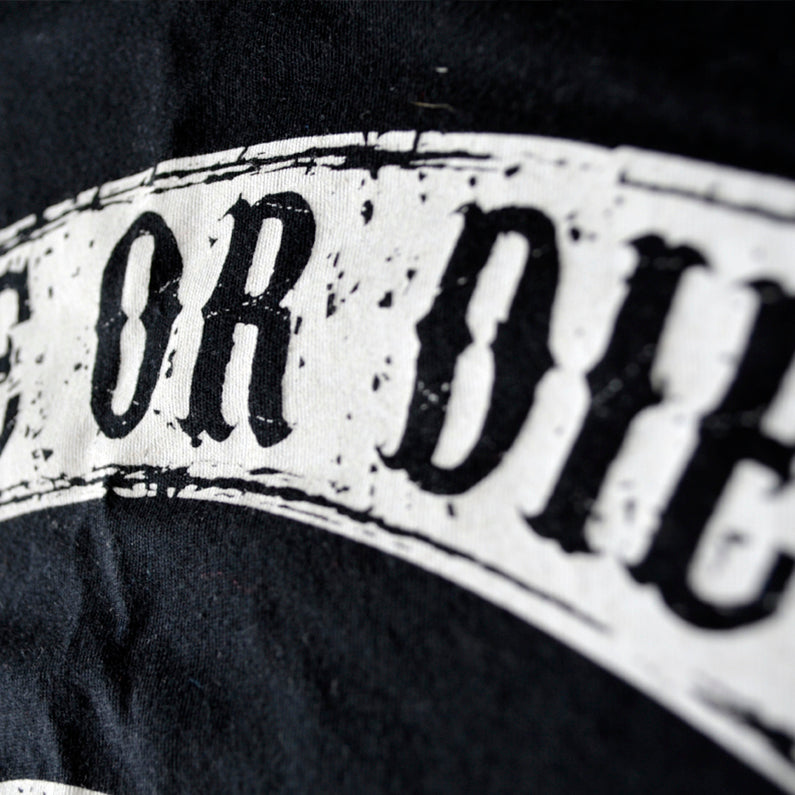 "T-Shirt PRiDEorDiE ""FIGHT CLUB"" - Noir"