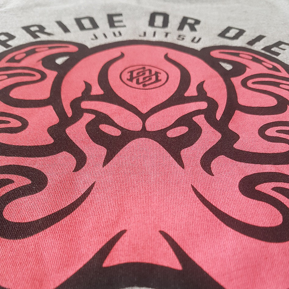 "T-Shirt PRiDEorDiE ""BONE CRUSHER"" - Gris"