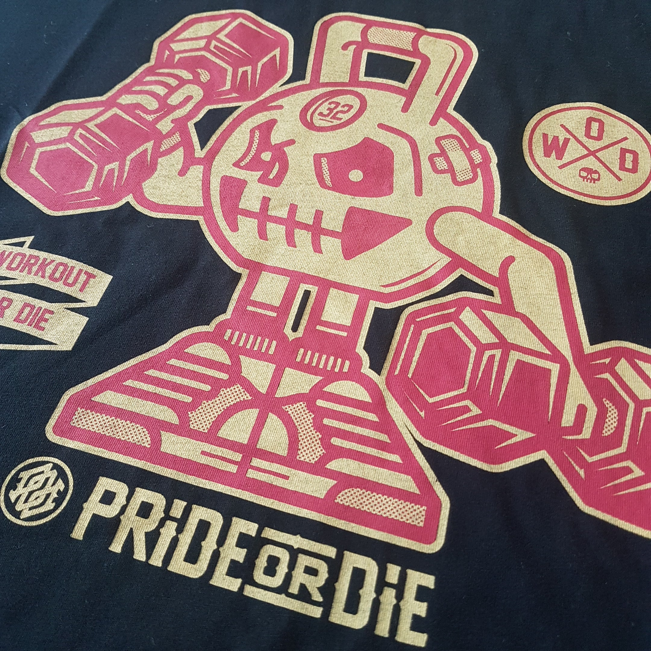 "T-Shirt PRiDEorDiE ""WORKOUT OR DIE"" - Noir"