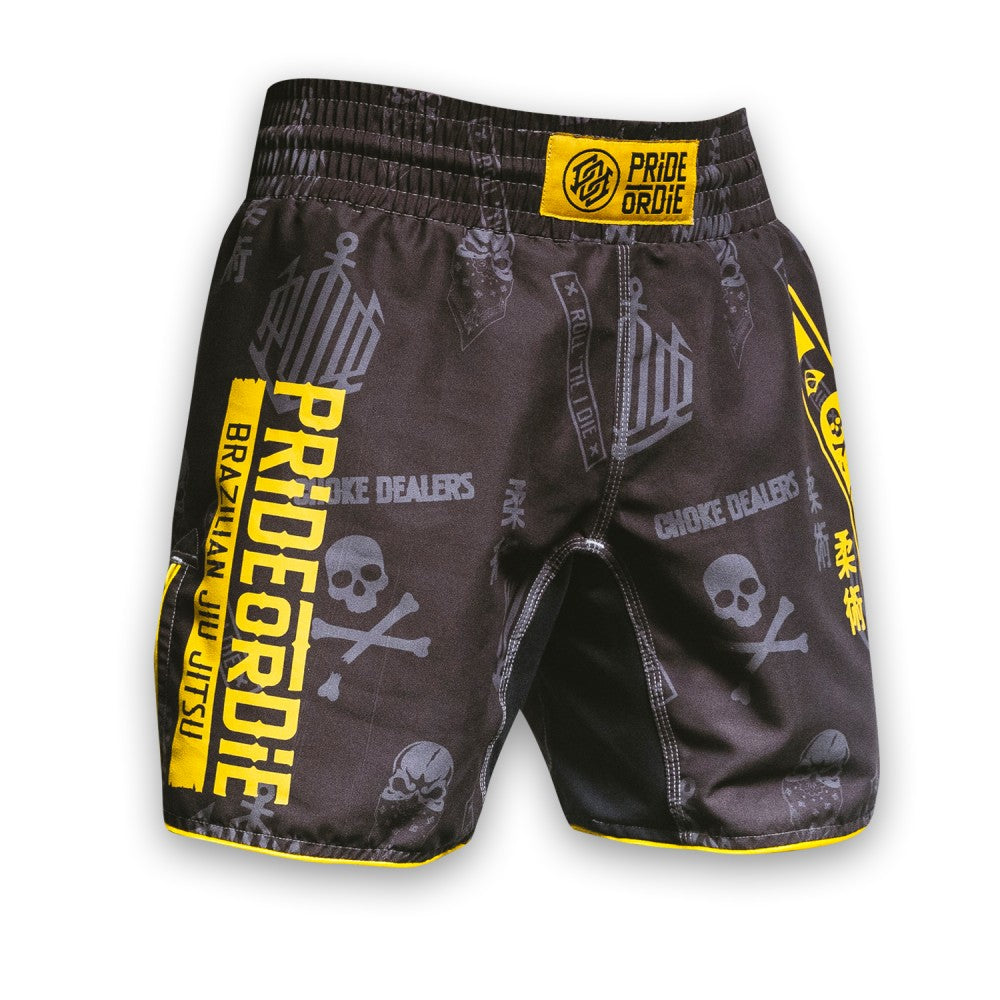 "Fight Short PRiDEorDiE ""HANG LOOSE"" - Gris"