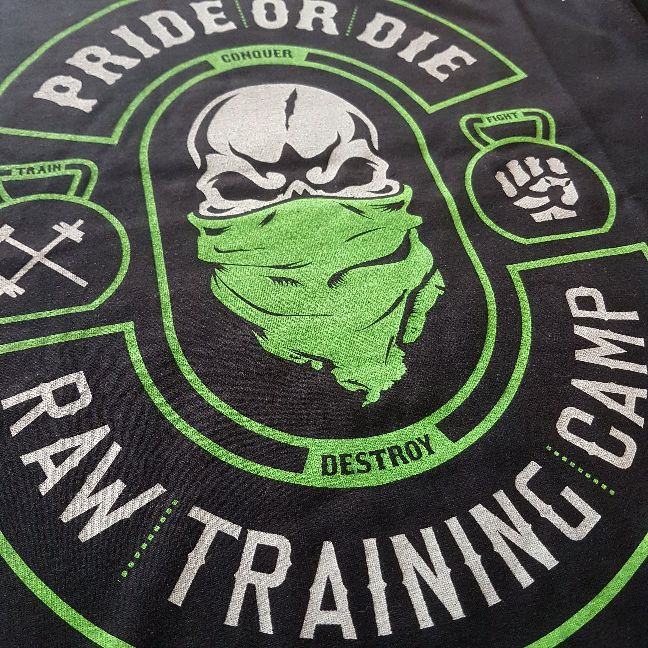 "T-Shirt PRiDEorDiE ""RAW TRAINING CAMP"" v.2 - Noir"