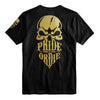 "T-Shirt PRiDEorDiE ""RECKLESS"" Gold - Noir"