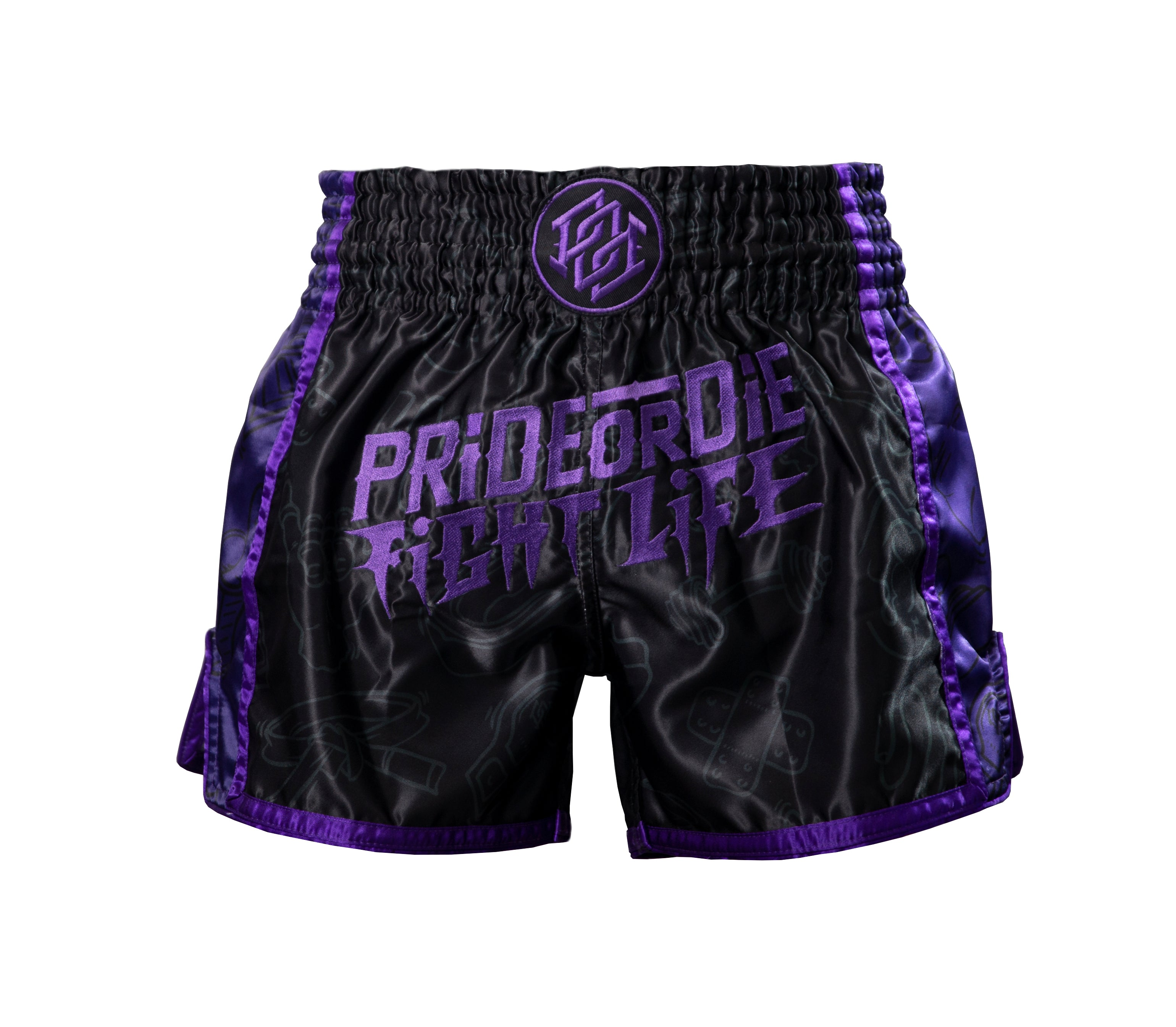 "Short Muay Thai PRiDEorDiE ""FIGHT LIFE"" - Noir"