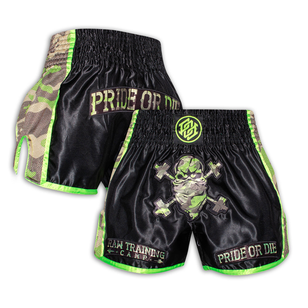 "Short Muay Thai PRiDEorDiE ""RAW TRAINING CAMP"" - Jungle camo"