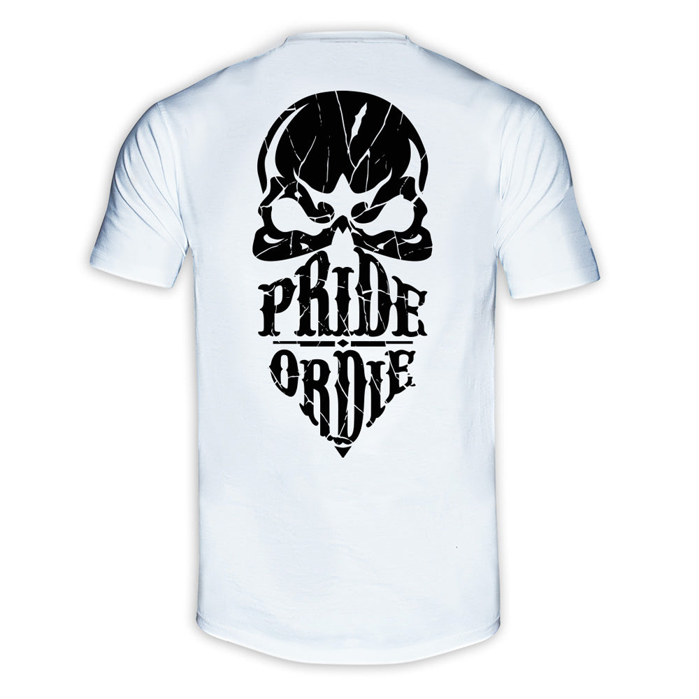 "T-Shirt PRiDEorDiE ""RECKLESS SHATTERED"" - Blanc"