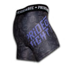 "Compression Shorts PRiDEorDiE ""FIGHT LIFE"" - Noir & Violet"