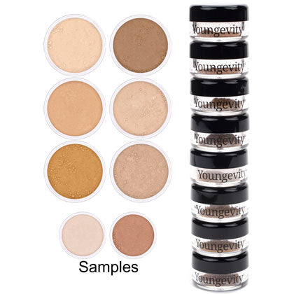 Mineral Makeup Sample Foundation Tower - Medium