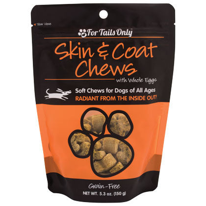 FTO Skin Coat Chews for Dogs - 5.3 oz Bag