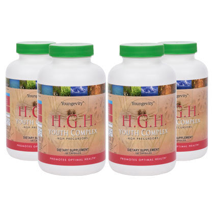 H.G.H. Youth Complex - HGH Precursors (4 bottles)  180 capsules each