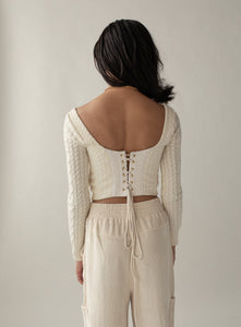 Butterfly Cutout Sweater Cream