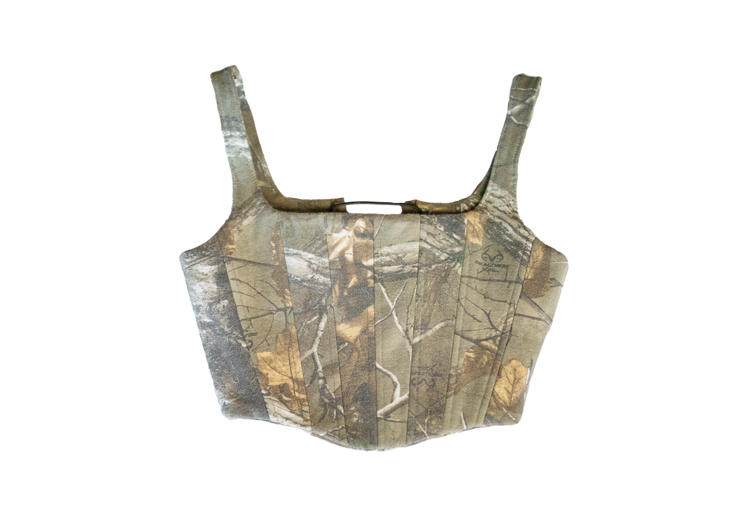 Brown Camouflage Corset (Made to Order)