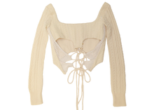 Load image into Gallery viewer, Butterfly Cutout Sweater Cream