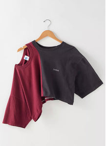 Split Cold Shoulder Tee