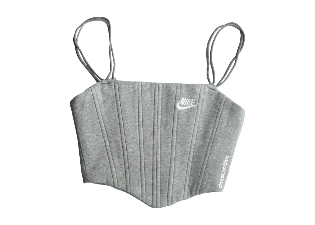 Nike Sweats Corset Light Grey/White Spell Out (S)