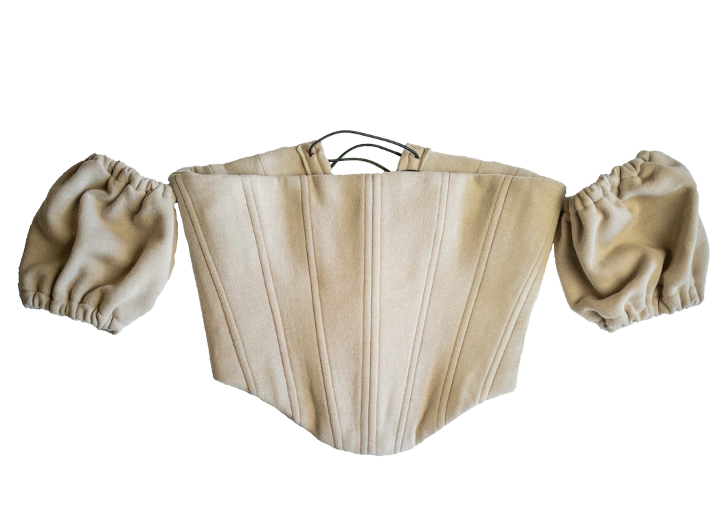 Tan Princess Corset w/ Detatched Sleeves