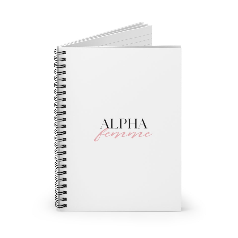 ALPHA Femme Spiral Notebook - Ruled Line