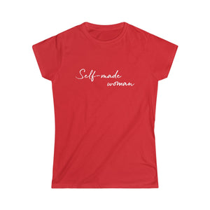Self-Made Woman Junior Fit Tee (Red, Black, Grey, Blue, Purple)