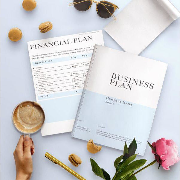 Business Plan Guide + Template Bundle (32 Page E-Book Printable)