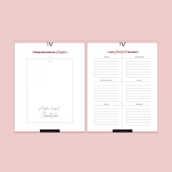 Gratitude Journal (8 Page E-Book Printable)