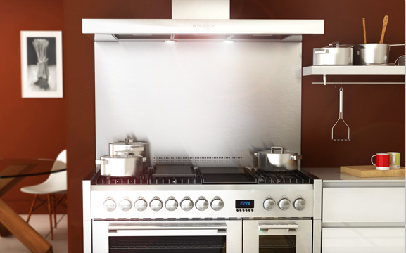 Ethos 120 range cooker and splashback