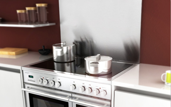 Select EC and stainless-steel splashback