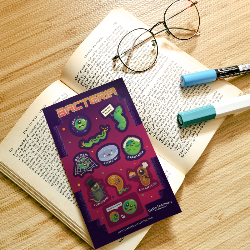 Bacteria Sticker Sheet