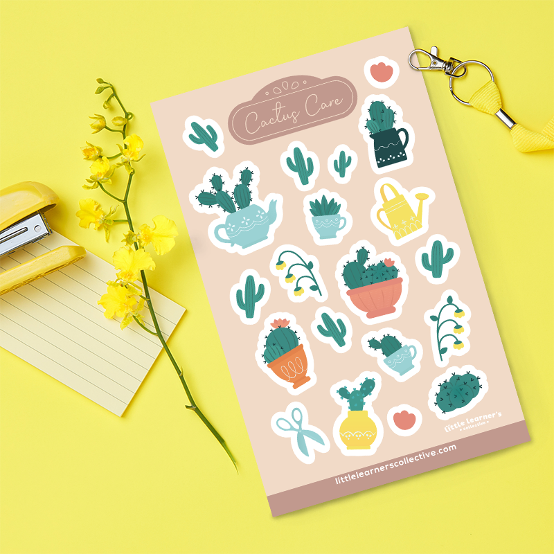 Cactus Care Sticker Sheet