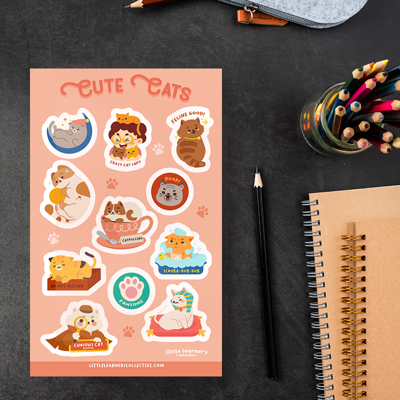 Cute Cats Sticker Sheet