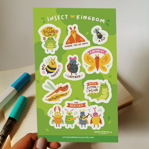 Insect Kingdom Sticker Sheet