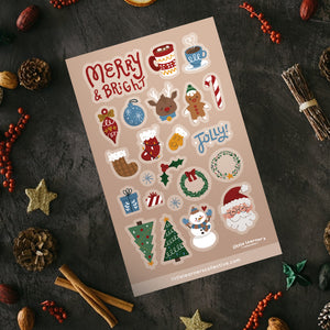 Merry & Bright Sticker Sheet