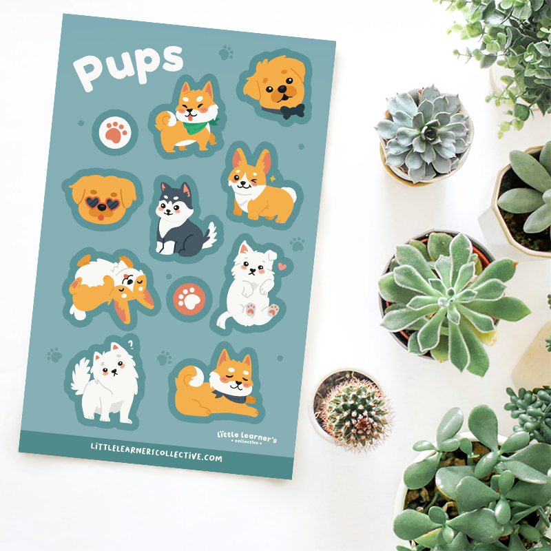 Pups Sticker Sheet