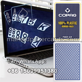 Copag plastic jumbo face infrared marked cards