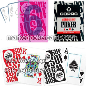 Copag WSOP custom marked plastic playing cards