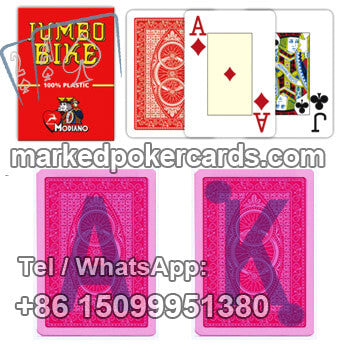 Marked Trick Poker Card Modiano Bike Trophy