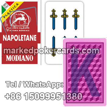 Microchips Playing Cards Modiano Napoletane