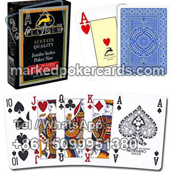 Modiano Platinum poker playing cards