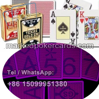 Texas holdem luminous ink marked cards