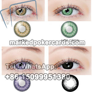contact lenses for luminous ink marked cards