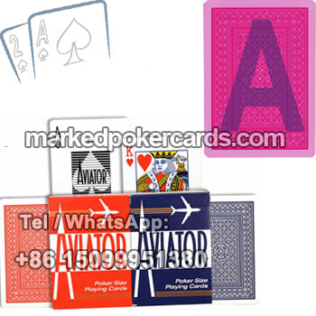 Aviator marked playing cards online sale