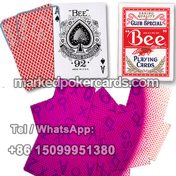 bee marked playing cards