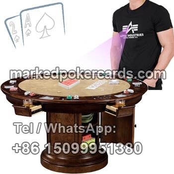 Wide Dynamic Poker Cards Scanner Camera In T-shirt