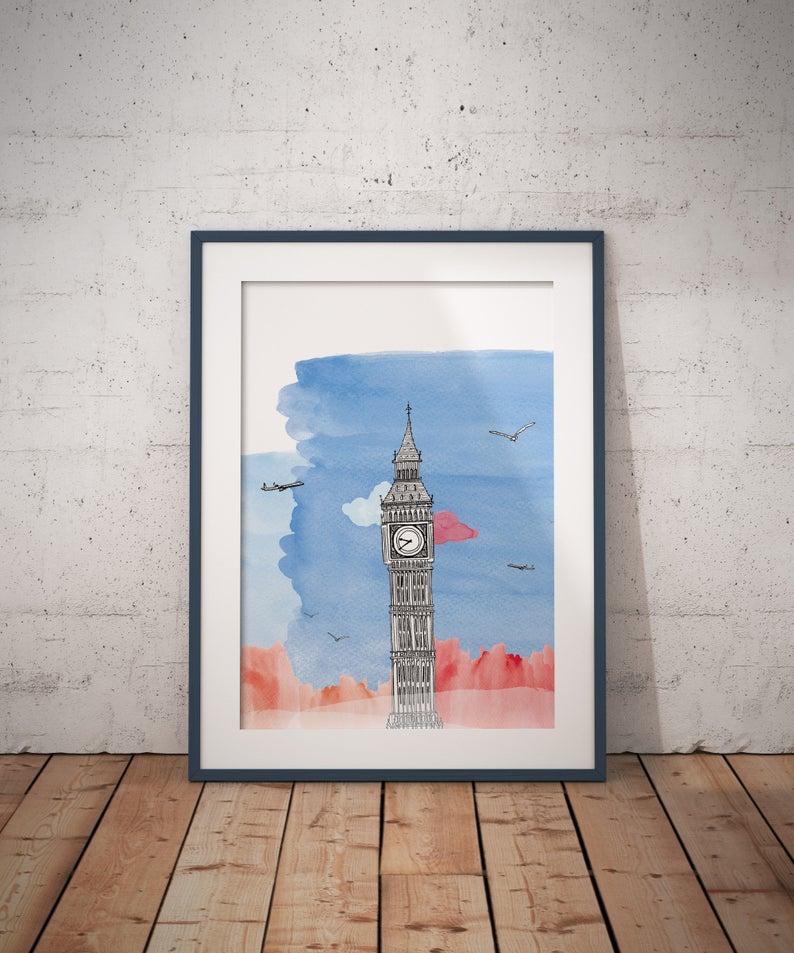 Big-Ben - London - Architecture, Art - A4/A3
