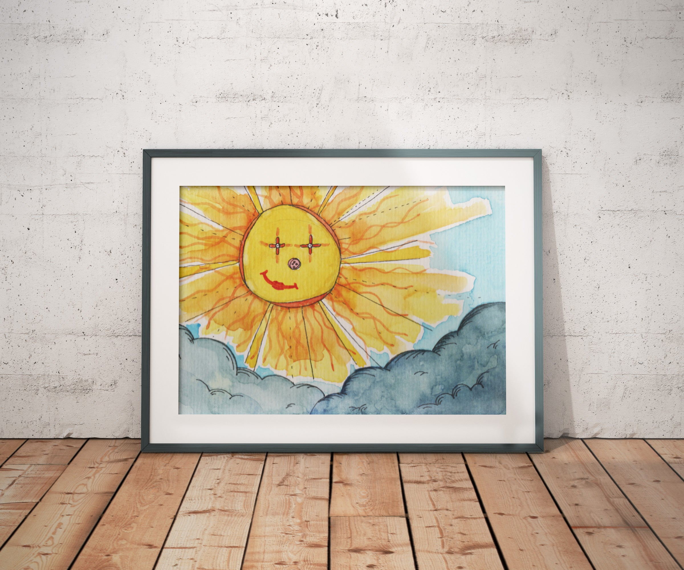 Smiling Sunshine  A4/ A3 Poster - Print