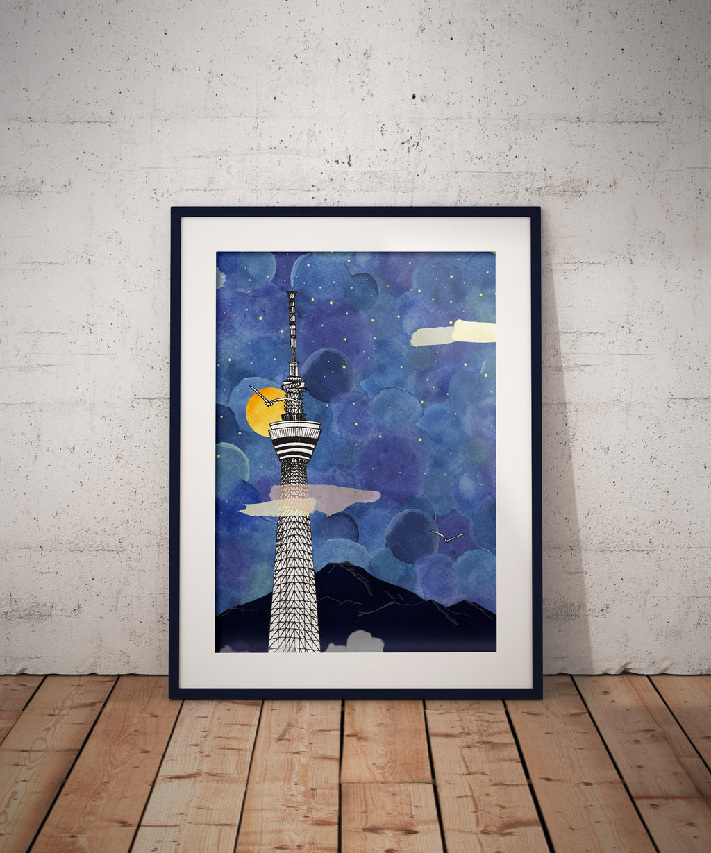 Tokyo Skytree (Taro Tokyo) // A4-A3 // Poster, Architecture, Art.