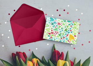 Colourful Hearts - Mama ich hab dich Ganz viel Lieb- Mother's day (card /handmade notebook)