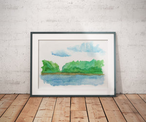 Lake View 1, 2, 3 - Landscape - Art - A4/A3