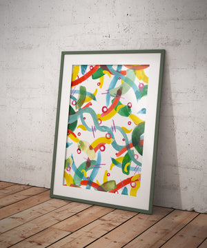 _No Name 1_ Abstract Watercolour A4/ A3 Poster - Print
