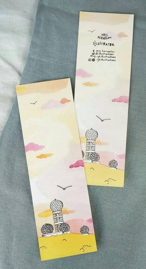 Berlin Bookmarks // recycled paper // set of 1,3 or 5